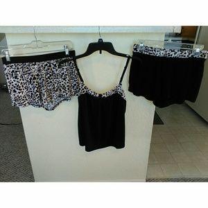3 Piece Gilligan and O'Malley Pajama Shorts Set